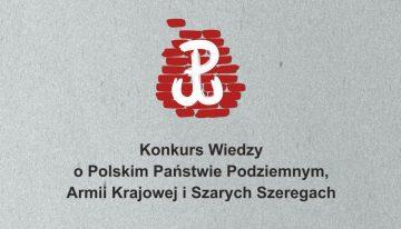 Konkurs wiedzy oPolskim Państwie Podziemnym, Szarych Szeregach iAK