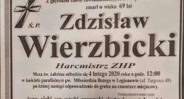 Odszedł naWieczną Wartę hm. Zdzisław Wierzbicki – były komendant hufca